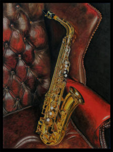 Alto sax on a leather chair, by brendan65, Deviant Art