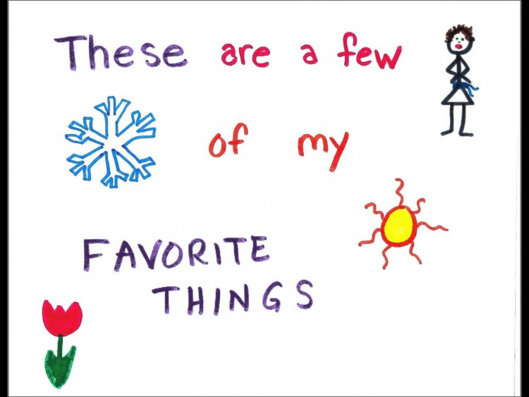 My favorite things, illustrations copyright Jennifer Ayers-Gould
